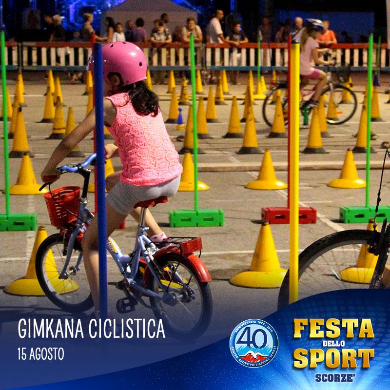 gimkana ciclistica alla festa dello sport