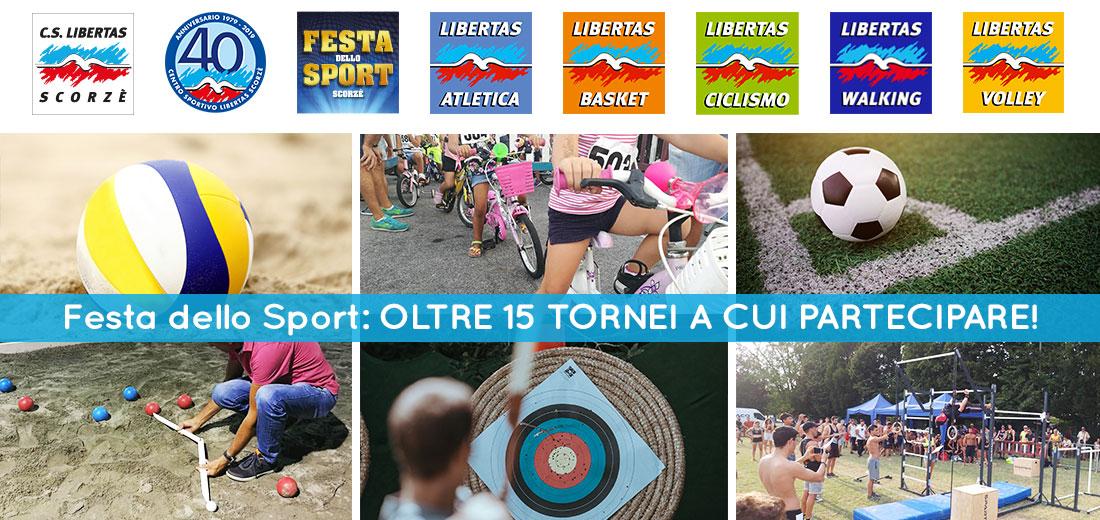 Festa dello Sport – Oltre 15 tornei a cui partecipare!