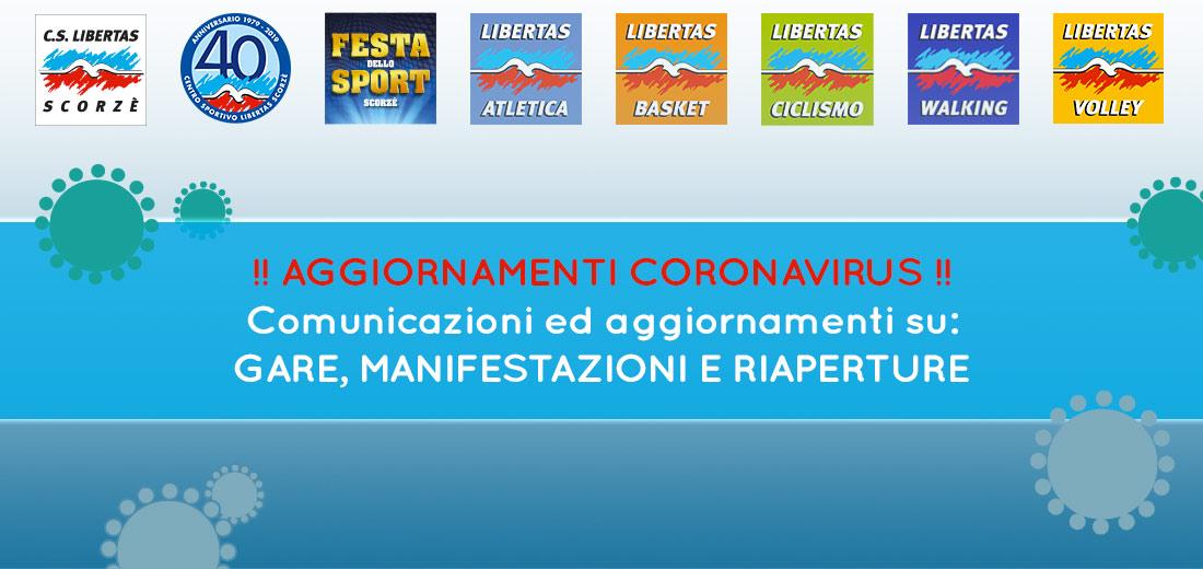 Coronavirus: aggiornamenti attività Libertas Scorzè